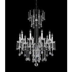 Schonbek Lighting Crystal Chandelier in Florentine Bronze Finish VE0003N-83H