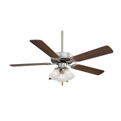 52-Inch Ceiling Fan with Light with White Glass