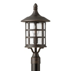Seeded Glass Post Light Oil Rubbed Bronze Hinkley Lighting