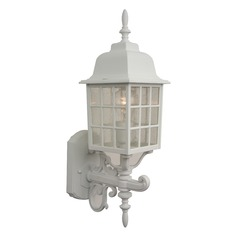 Craftmade Lighting Grid Cage Matte White Outdoor Wall Light