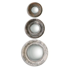 Uttermost Adelfia Round Mirrors, Set of 3
