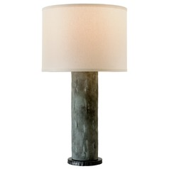 Troy Lighting La Brea Slate Table Lamp with Drum Shade