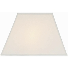 Cream Linen Rectangle Lamp Shade with Spider Assembly