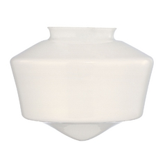Opal White Glass Shade - 3-1/4-Inch Fitter Opening