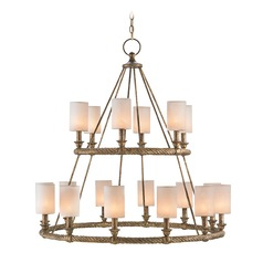 Currey and Company Westbourne Textured Gold Chandelier