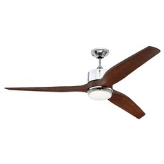 Craftmade Lighting Mobi Chrome LED Ceiling Fan with Light