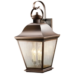 Kichler Outdoor Wall Light with Clear Glass in Olde Bronze Finish