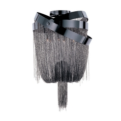 Modern Sconce Wall Light in Black Chrome Finish