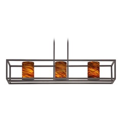 Design Classics Cheiti Neuvelle Bronze Island Light with Cylindrical Shade
