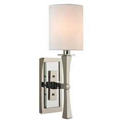 York 1 Light Sconce - Polished Nickel