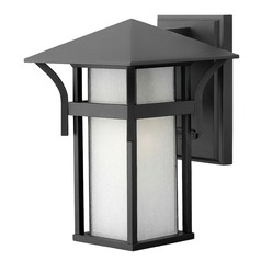 Hinkley Lighting Harbor Satin Black LED Outdoor Wall Light