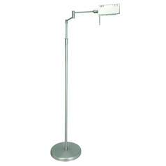 Lite Source Pharma Polished Steel Floor Lamp with Rectangle Shade
