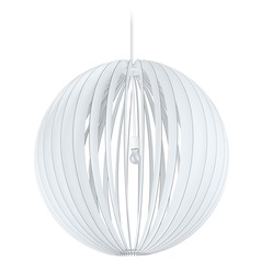Eglo Cossano White Pendant Light with Globe Shade
