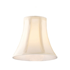 Off-White Bell Lamp Shade with Clip-On Assembly