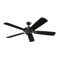 Monte Carlo Fans Ceiling Fan Without Light in Matte Black Finish 5CY60BK