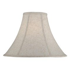 Cross-Weave Linen Bell Lamp Shade with Spider Assembly