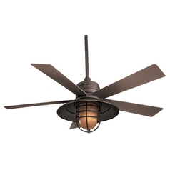 Minka Aire Fans 54-Inches Ceiling Fan with Five Blades and Light Kit F582-ORB