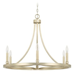 Capital Lighting Mercer Winter Gold Chandelier