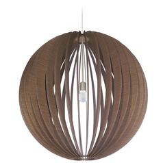 Eglo Cossano Satin Nickel Pendant Light with Globe Shade