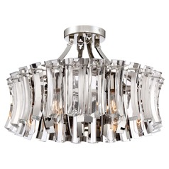 Elegance Royale Polished Nickel Semi-Flushmount Light