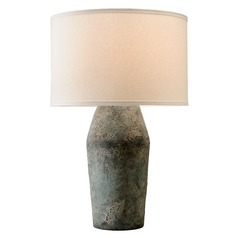 Troy Lighting Artifact Moonstone Table Lamp with Drum Shade