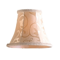 Patterned Bell Lamp Shade with Clip-On Assembly
