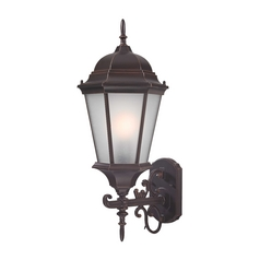 Large Coach Outdoor Wall Light in Bronze - 22-3/4-Inches Tall