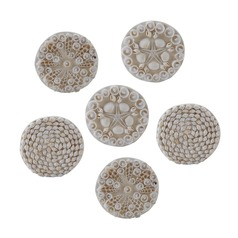 Set of 6 Shell Coasters