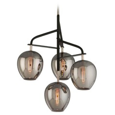 Troy Lighting Odyssey Carbide Black and Polished Nickel Chandelier