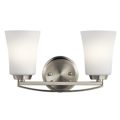 Transitional Bathroom Light Brushed Nickel Tao by Kichler Lighting