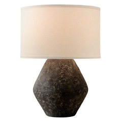 Troy Lighting Artifact Graystone Table Lamp with Drum Shade