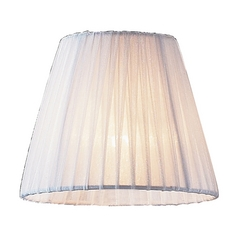 White Pleated Clip-On Chandelier Lamp Shade