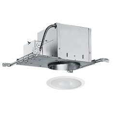 6-inch Recessed Lighting Kit with Frosted Shower Trim