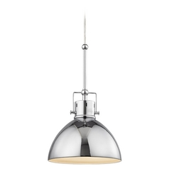 Industrial Mariner Polished Chrome Mini-Pendant Light