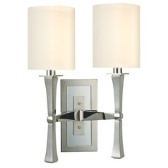 York 2 Light Sconce - Polished Nickel