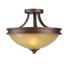 Golden Lighting Hidalgo Sovereign Bronze Semi-Flushmount Light