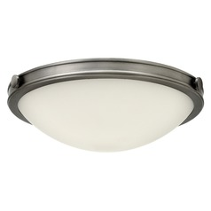 Industrial Antique Nickel LED Flushmount Light by Hinkley Lighting