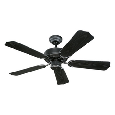 Ceiling Fan Without Light in Matte Black Finish