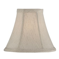 Off White Bell Lamp Shade with Clip-On Assembly