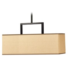 Kenroy Home Lighting Emilio Bronze Pendant Light with Rectangle Shade