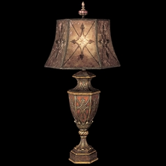 Fine Art Lamps Villa 1919 Umber with Gilded Accents Table Lamp with Bell Shade