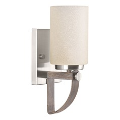 Modern Farmhouse Sconce Brushed Nickel Aspen Creek by Progress Lighting