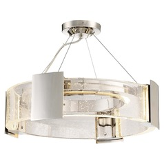 Stellaris Polished Nickel LED Semi-Flushmount Light 3000K 957LM