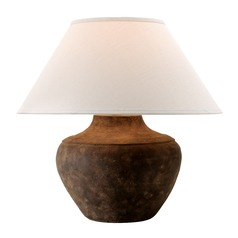 Troy Lighting Calabria Sienna Table Lamp with Coolie Shade