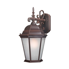 Traditional Outdoor Wall Light with White Glass - 17-5/8-Inches Tall