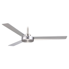 Minka 52-Inch Brushed Aluminum Roto Ceiling Fan with Silver Blades