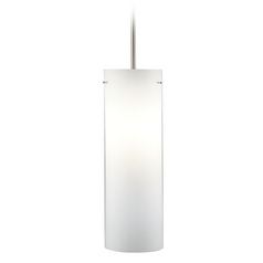 Hart Lighting Line Voltage Pendants Satin Nickel / Bronze Mini-Pendant Light with Cylindrical Shade