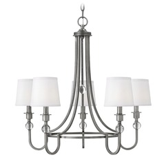 Hinkley Lighting Morgan Antique Nickel Chandelier