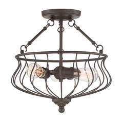 Quoizel Lighting Baroness Western Bronze Semi-Flushmount Light