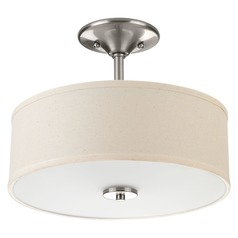 Progress Lighting Inspire Brushed Nickel Semi-Flushmount Light